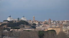 Altar to the fatherland at dusk in Rome, Italy Stock Footage
