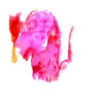 Stock Illustration of Blot divorce Pink, red, yellow illustration artist of handwork i