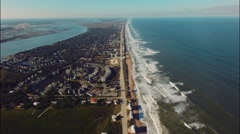 Aerial Over Jacksonvile beach in florida DJI - stock footage