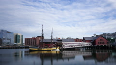 4K Time lapse close up Boston Tea Party Museum Stock Footage
