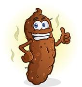 Poop Thumbs Up Cartoon Character Stock Illustration