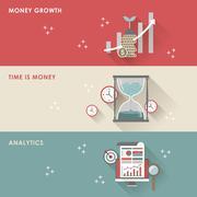 Stock Illustration of economic concept for flat design