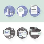 Flat design for design and promote Stock Illustration