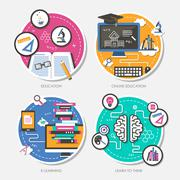 Education concept in flat design Stock Illustration