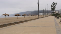 Walk on the Beach Stock Footage