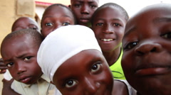 African children extreme close-up Stock Footage