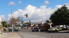 California Anaheim City Street and Clouds, TIme Lapse Stock Footage