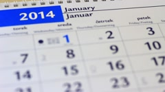 A year goes by in the calendar - stock footage
