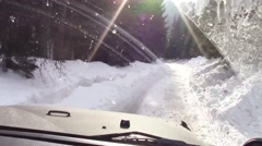 Winter off roading Stock Footage