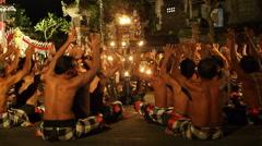 Balinese Kecak Dance (Monkey Chant) Performance in Ubud, Bali, Indonesia - Sound Stock Footage