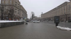 Khreshchatyk Street in the afternoon, Kiev, Ukraine Stock Footage