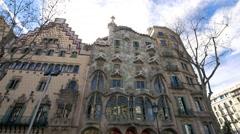 Gaudí  Museum  Casa Batlló Stock Footage