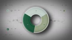 Pie Graph Loop Green Lite Stock Footage