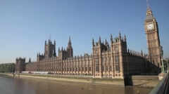The Palace of Westminster, The Houses of Parliament, Westminster London 2 Stock Footage