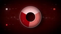 Pie Graph Loop Red - stock footage