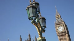 Big Ben Clock Tower, Palace of  Westminster London 1 Stock Footage