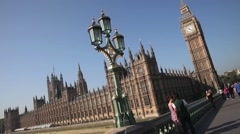 The Palace of Westminster, The Houses of Parliament, Westminster London 1 Stock Footage