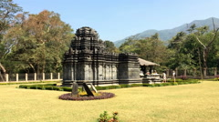 India. Goa. The only remained Mahadev temple the XIII century in Tambdi Surla Stock Footage