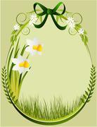 Easter decoration frame Stock Illustration