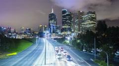 4k hyperlapse video of Melbourne CBD Stock Footage