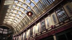 Leadenhall Market, City of London, England 2 Stock Footage