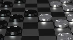 Checkers Game Modern Board Stock Illustration