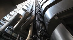 The Lloyds Building London, Detail 2 Stock Footage