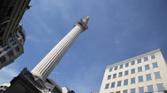 The Monument City of London 4 Stock Footage