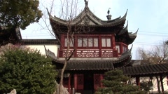 Shanghai Garden Building Stock Footage