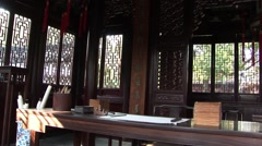 Shanghai Garden Traditional House Stock Footage
