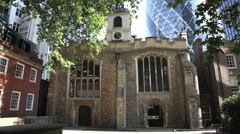 St Helen church Bishopsgate, City of London Stock Footage