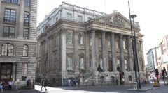 Mansion House, City of London United Kingdom 1 Stock Footage