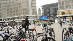 Timelapse of life at Berlin Alexanderplatz Stock Footage