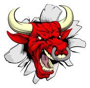 Red bull breakthrough - stock illustration