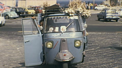 Ischia 1970s: van loaded with vegetables Stock Footage