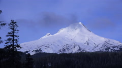 Time lapse of clouds moving across the summit of Mt. Hood, Oregon. Stock Footage
