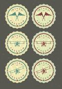 Vector set of aviator icons - stock illustration