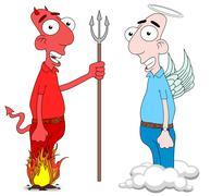 Devil and Angel Stock Illustration