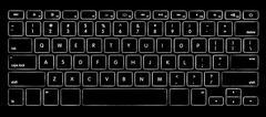Computer keyboard with illuminated backlight. Stock Photos