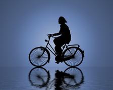Water rider Stock Illustration