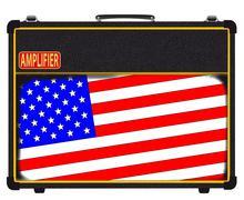 USA Rock Amplifier - stock illustration