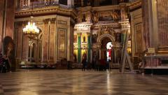 Interior of ornate the temple Stock Footage