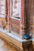 Different parts of Mehrangarh Fort, Rajasthan, Jodhpur, India - stock photo