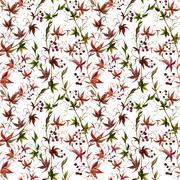 Watercolor grape pattern - stock illustration