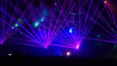 Laser beams at dance party Stock Footage