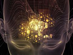 Toward Digital Thought - stock illustration