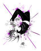 Stock Illustration of dancing boy