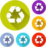 Recycle icons Stock Illustration