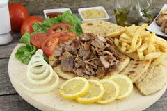 Greek gyros Stock Photos