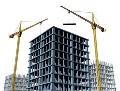 Highrise construction Site Stock Illustration